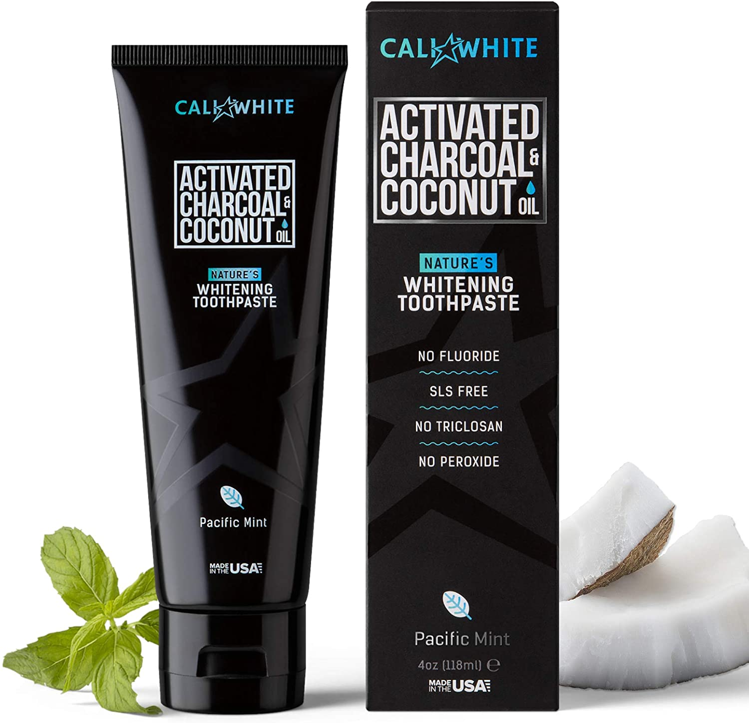 CALI WHITE ACTIVATED CHARCOAL BEST TOOTHPASTE BRANDS IN THE WORLD